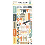 Echo Park - Brothers Collection - Cardstock Stickers