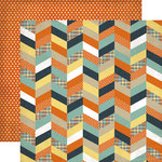 Echo Park - Brothers Collection - 12 x 12 Double Sided Paper - Chevron