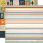 Echo Park - Brothers Collection - 12 x 12 Double Sided Paper - Stripe