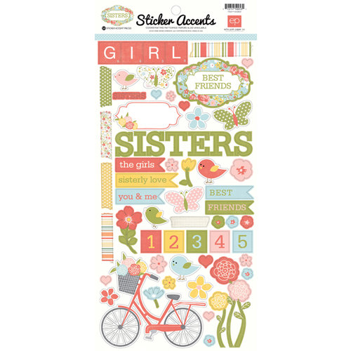 Echo Park - Sisters Collection - Cardstock Stickers