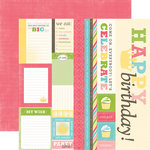 Echo Park - Birthday Girl Collection - 12 x 12 Double Sided Paper - Journaling
