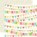 Echo Park - Birthday Girl Collection - 12 x 12 Double Sided Paper - Banner