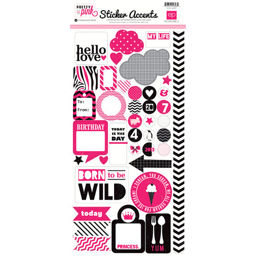 Echo Park - Pretty in Pink Collection - Cardstock Stickers