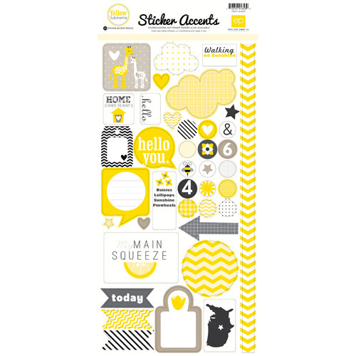 Echo Park - Yellow Submarine Collection - Cardstock Stickers