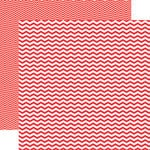 Echo Park - Red Collection - 12 x 12 Double Sided Paper - Red Chevron