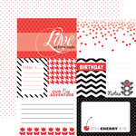 Echo Park - Red Collection - 12 x 12 Double Sided Paper - Red Journaling