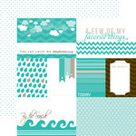 Echo Park - Totally Teal Collection - 12 x 12 Double Sided Paper - Teal Journaling