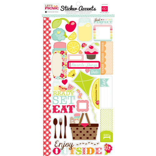 Echo Park - Lets Picnic Collection - Cardstock Stickers