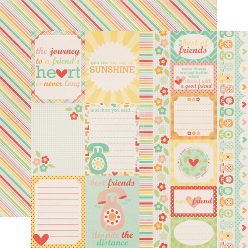Echo Park - The Best of Friends Collection - 12 x 12 Double Sided Paper - Journaling Cards