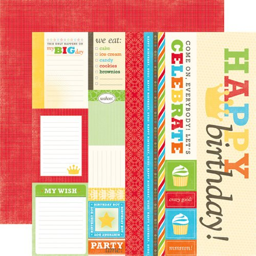Echo Park - Birthday Boy Collection - 12 x 12 Double Sided Paper - Journaling