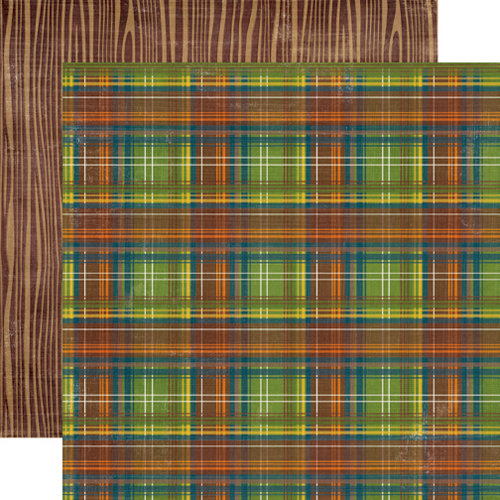 Echo Park - The Great Outdoors Collection - 12 x 12 Double Sided Paper - Plaid