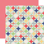 Echo Park - Handmade Collection - 12 x 12 Double Sided Paper - Quilt