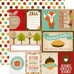 Echo Park - I Heart Fall Collection - 12 x 12 Double Sided Paper - Journaling Cards
