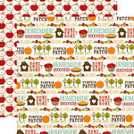 Echo Park - I Heart Fall Collection - 12 x 12 Double Sided Paper - Words