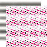 Echo Park - Princess Collection - 12 x 12 Double Sided Paper - Hearts