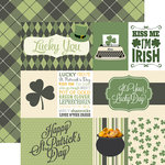 Echo Park - Lucky You Collection - 12 x 12 Double Sided Paper - Journaling Cards