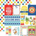 Echo Park - Beach Party Collection - 12 x 12 Double Sided Paper - Journaling Cards