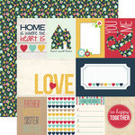 Echo Park - Our Family Collection - 12 x 12 Double Sided Paper - Journaling Cards