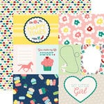 Echo Park - My Little Girl Collection - 12 x 12 Double Sided Paper - Journaling Cards