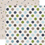 Echo Park - My Little Boy Collection - 12 x 12 Double Sided Paper - My Little Boy Dots