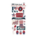 Echo Park - Stars and Stripes Collection - Cardstock Stickers