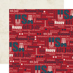 Echo Park - Stars and Stripes Collection - 12 x 12 Double Sided Paper - Words