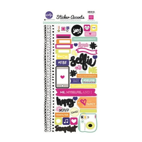 Echo Park - Hashtag Selfie Collection - Cardstock Stickers