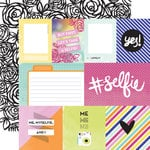 Echo Park - Hashtag Selfie Collection - 12 x 12 Double Sided Paper - Journaling Cards
