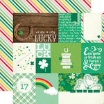 Echo Park - Lucky Charm Collection - 12 x 12 Double Sided Paper - Journaling Cards