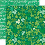 Echo Park - Lucky Charm Collection - 12 x 12 Double Sided Paper - Lucky Clover