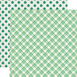 Echo Park - Lucky Charm Collection - 12 x 12 Double Sided Paper - Lucky Plaid
