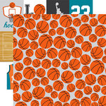 Echo Park - Basketball Collection - 12 x 12 Double Sided Paper - Orange Basketballs