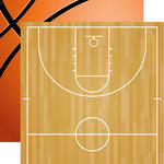 Echo Park - Basketball Collection - 12 x 12 Double Sided Paper - Basketball Court