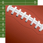 Echo Park - Football Collection - 12 x 12 Double Sided Paper - Football Laces