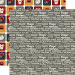 Echo Park - Football Collection - 12 x 12 Double Sided Paper - Football Words