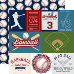 Echo Park - Baseball Collection - 12 x 12 Double Sided Paper - Baseball Cards