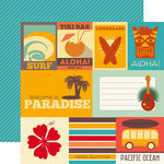 Echo Park - Island Paradise Collection - 12 x 12 Double Sided Paper - Journaling Cards