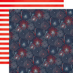 Echo Park - Sweet Liberty Collection - 12 x 12 Double Sided Paper - Sweet Fireworks
