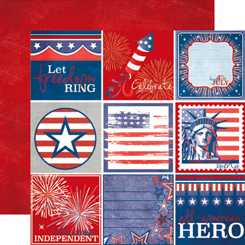 Echo Park - 4th of July Collection - 12 x 12 Double Sided Paper - Journaling