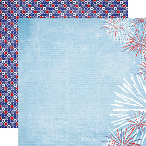 Echo Park - 4th of July Collection - 12 x 12 Double Sided Paper - Firework