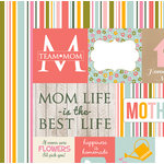 Echo Park - Beautiful Mom Collection - 12 x 12 Double Sided Paper - Journaling Cards