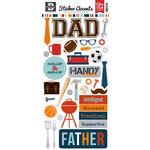 Echo Park - Team Dad Collection - Cardstock Stickers