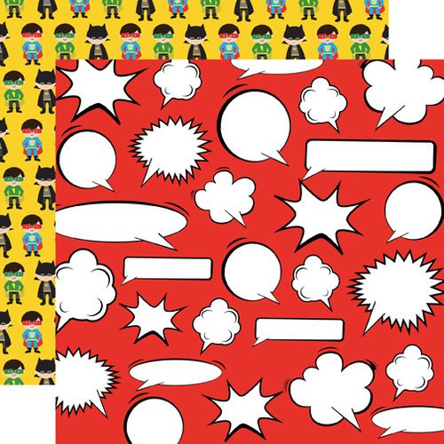 Echo Park - Superhero Collection - 12 x 12 Double Sided Paper - Thought Bubbles