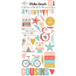 Echo Park - Girl Cousin Collection - Cardstock Stickers