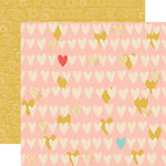 Echo Park - Girl Cousin Collection - 12 x 12 Double Sided Paper - Cousin Love