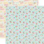 Echo Park - Girl Cousin Collection - 12 x 12 Double Sided Paper - Lovely Floral