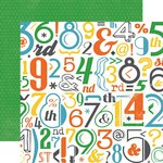 Echo Park - Boy Cousin Collection - 12 x 12 Double Sided Paper - Letters And Numbers
