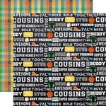 Echo Park - Boy Cousin Collection - 12 x 12 Double Sided Paper - Best Buddy