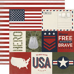 Echo Park - Hero Collection - 12 x 12 Double Sided Paper - Journaling Cards