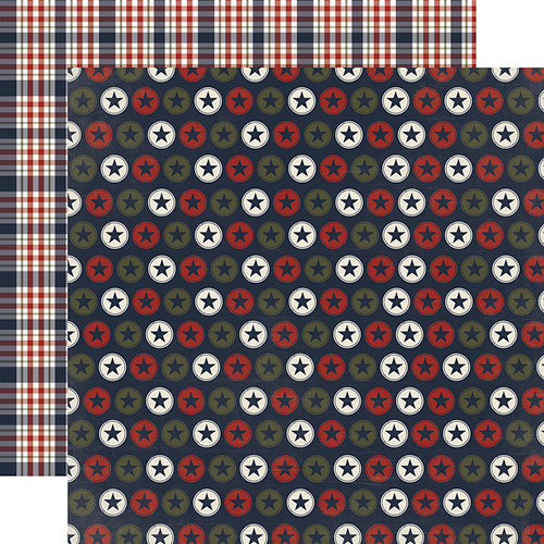 Echo Park - Hero Collection - 12 x 12 Double Sided Paper - Stars and Stripes